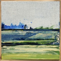 Déjeuner à la mer (25x25cm, 2015, paint on canvas)
