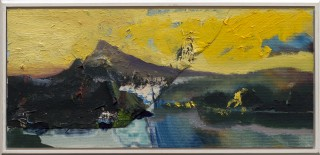 Yellow mountain (25x51cm, 2009, paint on canvas)